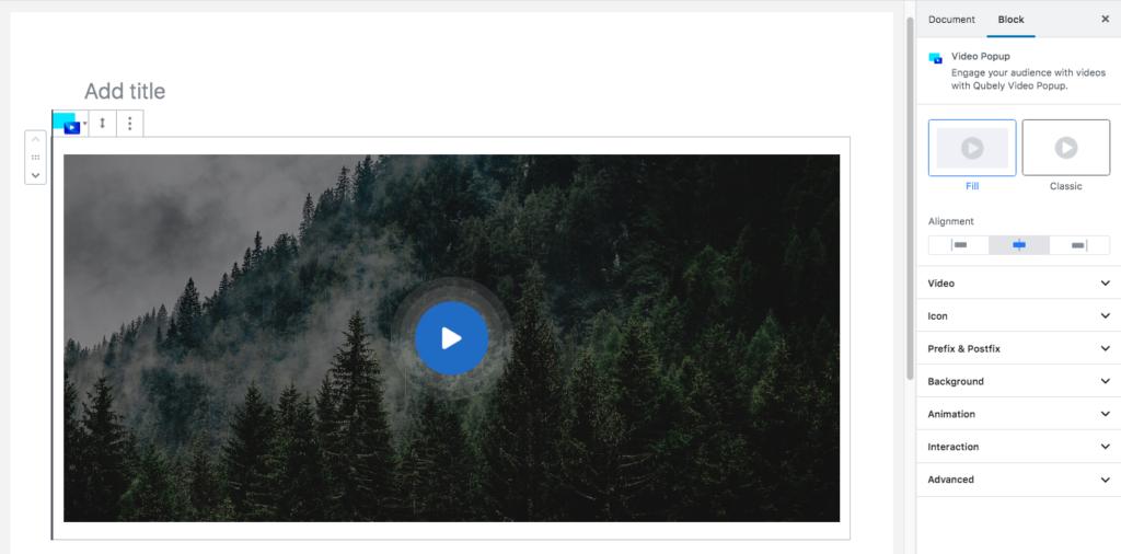 Qubely video block