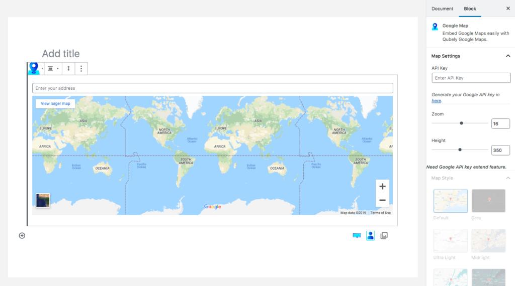 Qubely map block